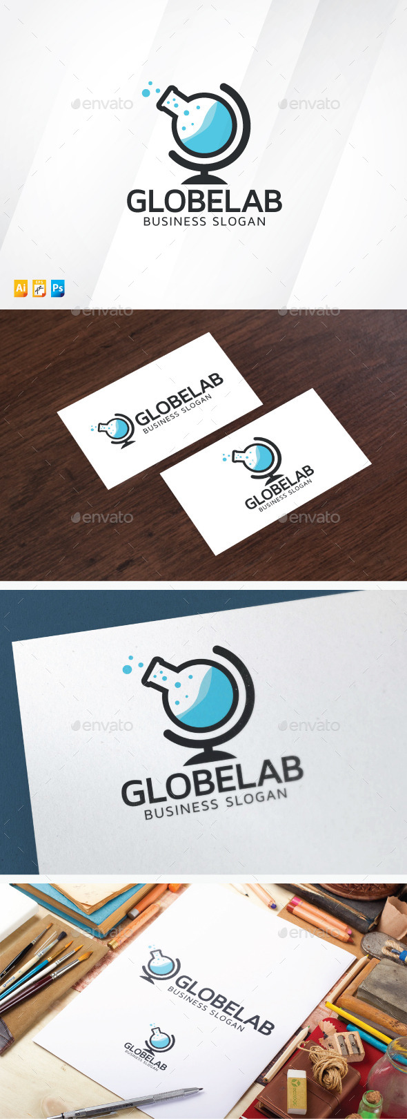 Globe Lab Logo - Objects Logo Templates