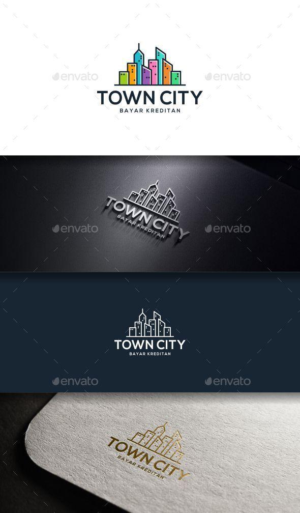 Town City - Buildings Logo Templates
