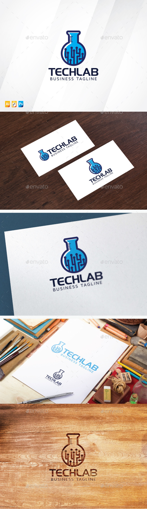 Laboratory Technology Logo - Objects Logo Templates
