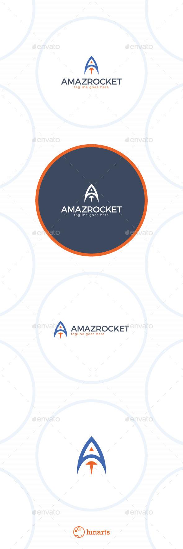 Rocket Logo Letter A