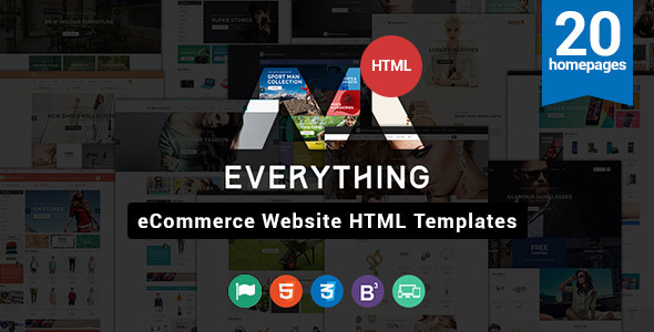 Everything Store – Multipurpose Responsive HTML Ecommerce Template