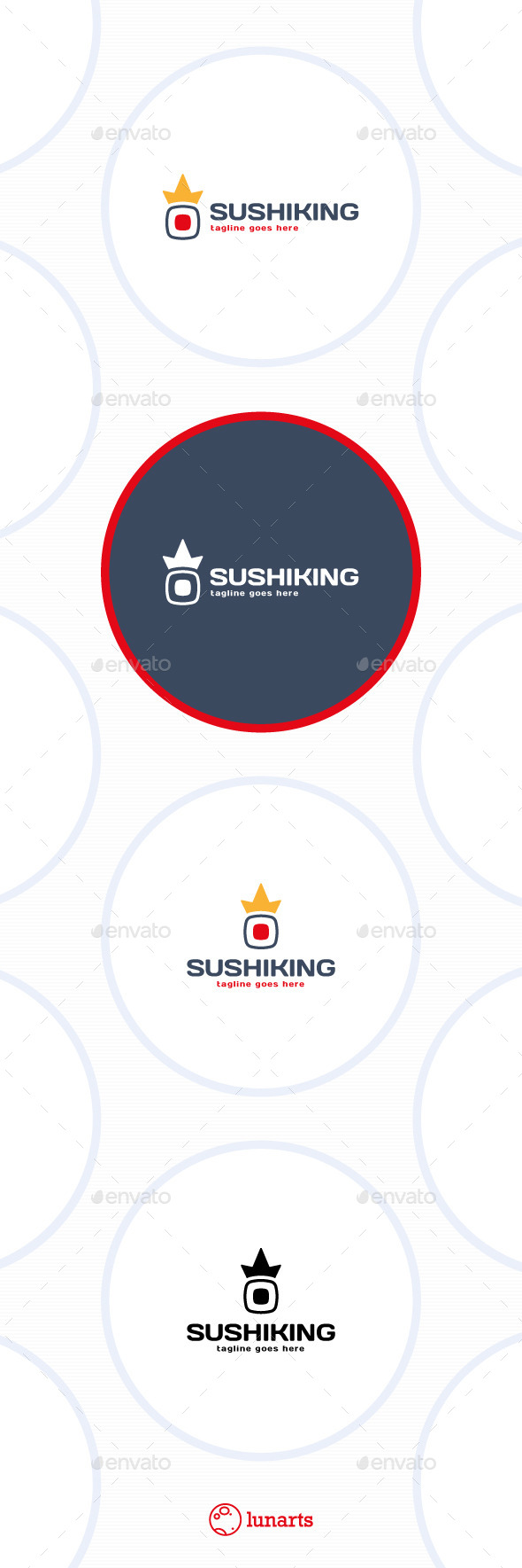 Sushi King Logo - Crown - Symbols Logo Templates