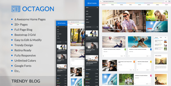 Octagon Trendy News Magazine HTML Template