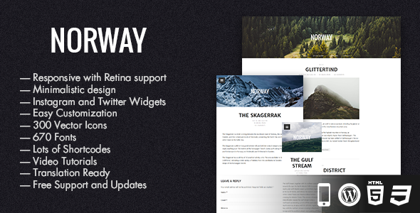 Norway – Responsive WordPress Theme