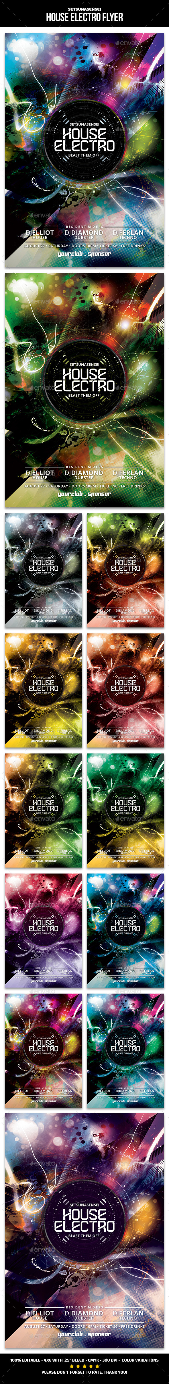 House Electro Flyer - Clubs & Parties Events