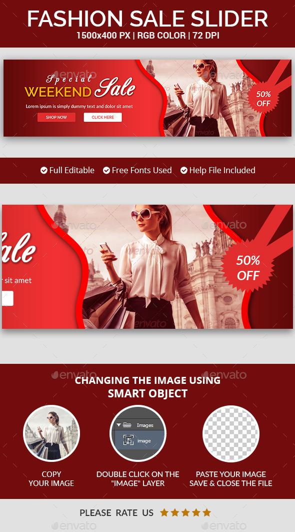 Fashion Sale Slider v14 - Sliders & Features Web Elements