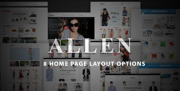 Allen – Multi-Purpose PSD Template