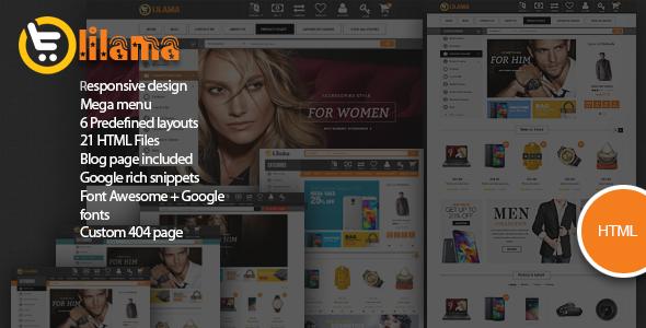 Lilama – Mega Shop Responsive HTML5 Template