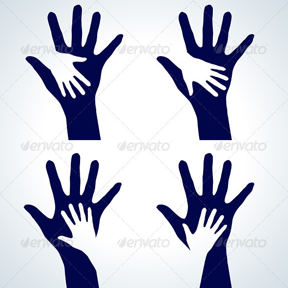 Set of Hands silhouette - Characters Vectors