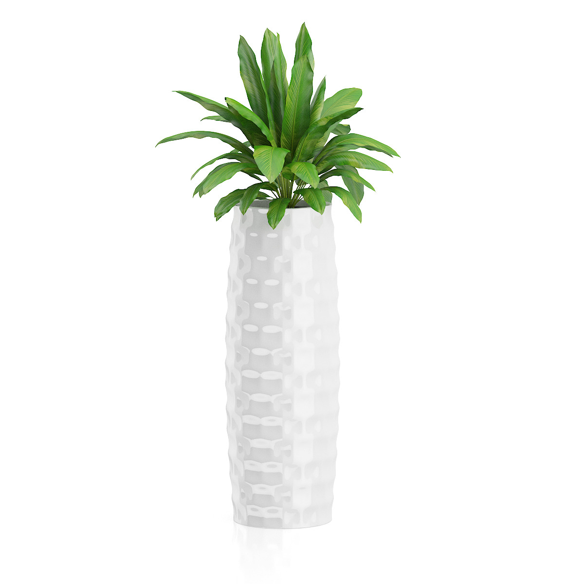 tall white plant pot