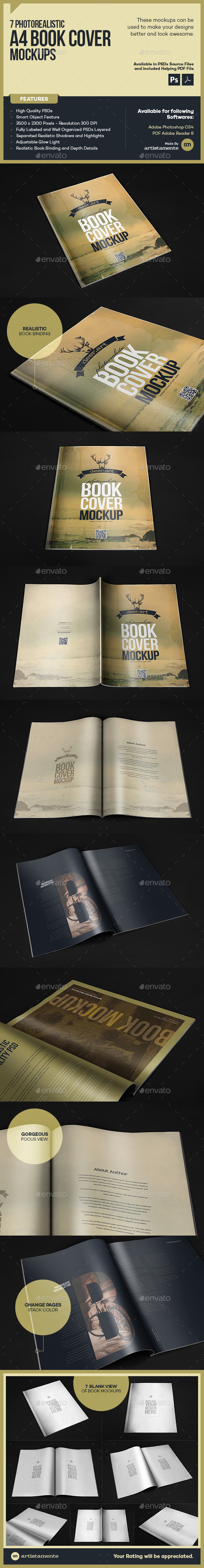 Photorealistic Book Mock-Up - Books Print
