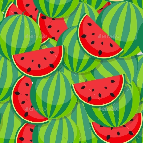 Seamless Pattern Background From Watermelon