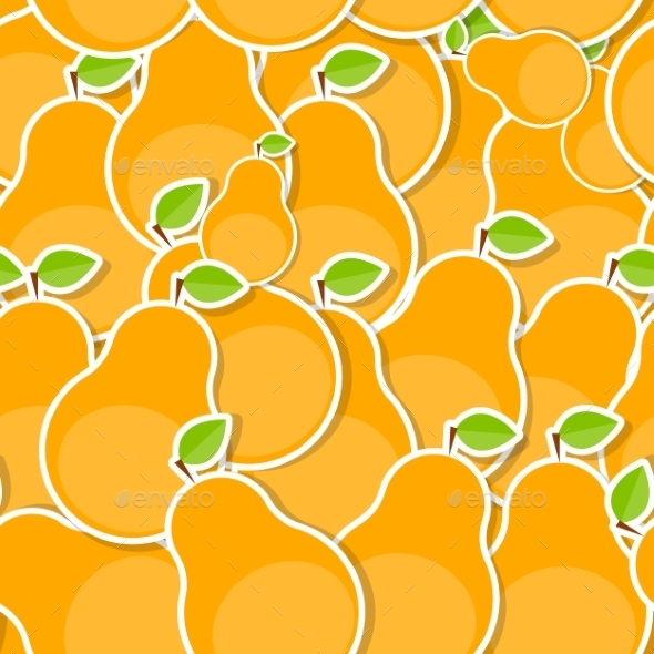 Seamless Pattern Background From Pear Vector - Patterns Decorative