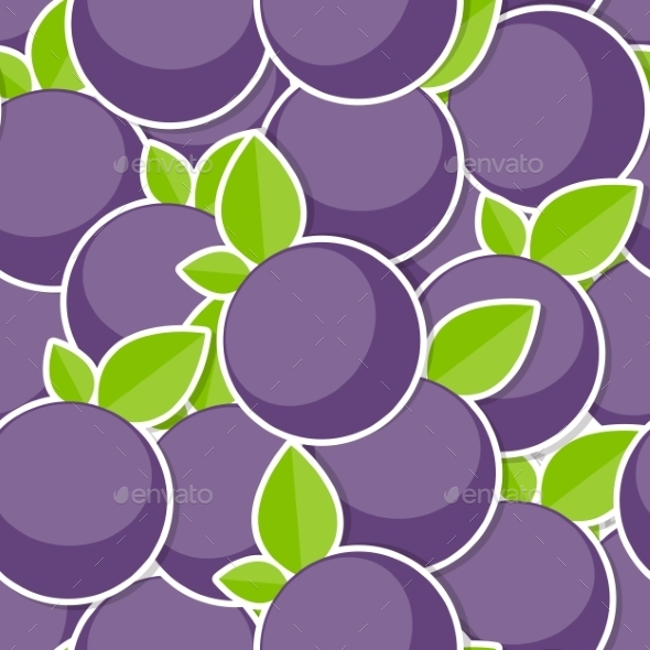 Seamless Pattern Background From Berrys Vector