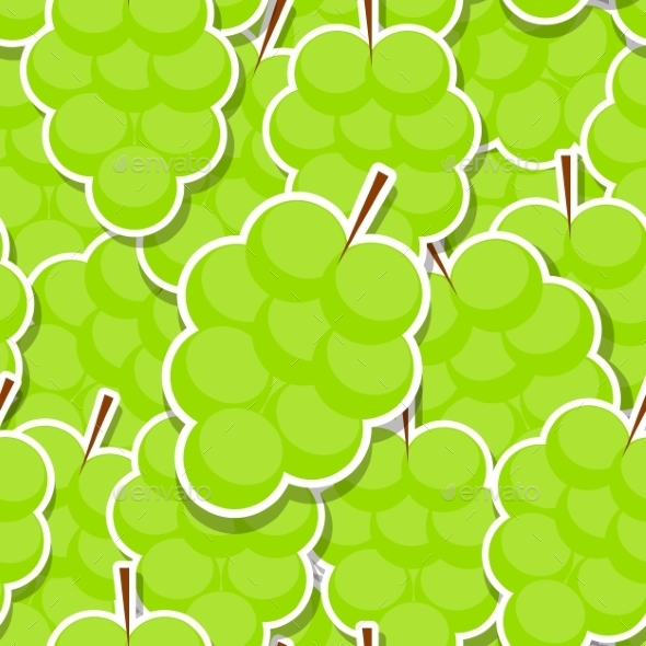 Seamless Pattern Background From Grapes. Vector - Patterns Decorative