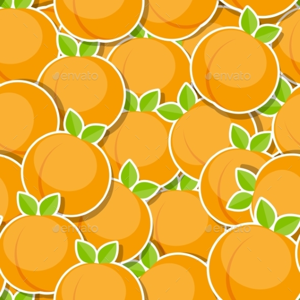 Seamless Pattern Background From Peach Vector - Patterns Decorative
