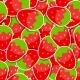 Seamless Pattern Background From Strawberry Vector - GraphicRiver Item for Sale