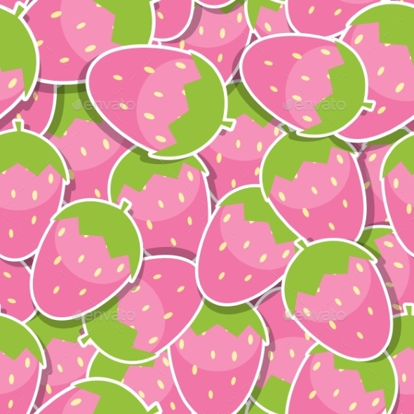 Seamless Pattern Background From Strawberry Vector - Patterns Decorative
