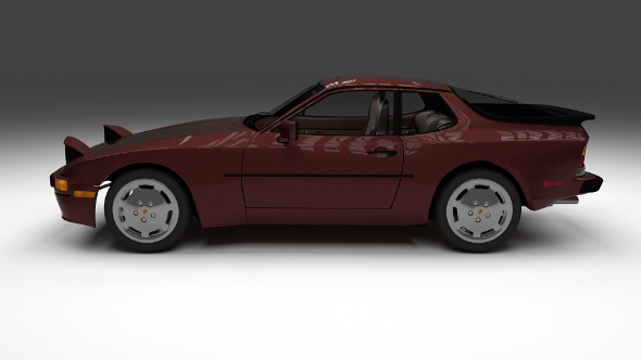 Porsche 944S w interior - 3DOcean Item for Sale