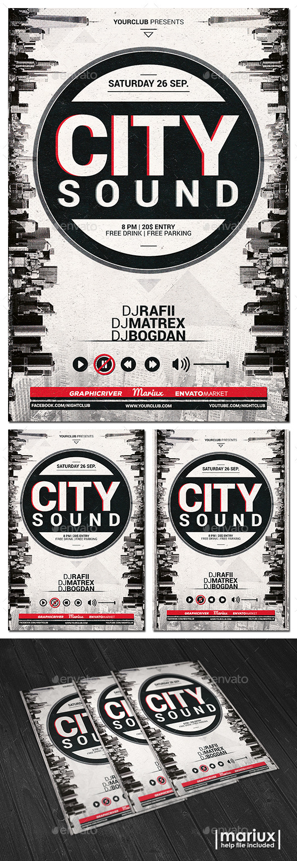 City Sound Party Flyer - Clubs & Parties Events