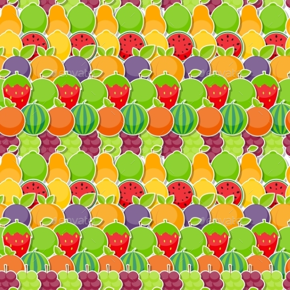 Seamless Pattern Background From Apple Orange