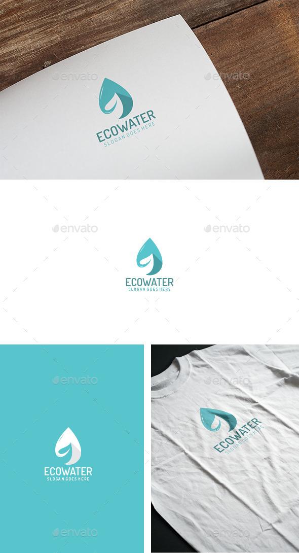 Eco Water Drop Logo - Abstract Logo Templates