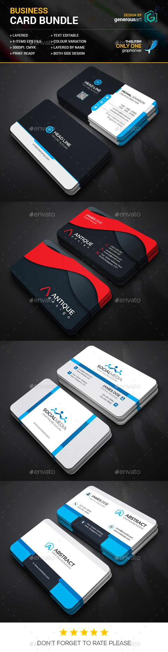 Business Card Bundle 4 in 1 Vol.21