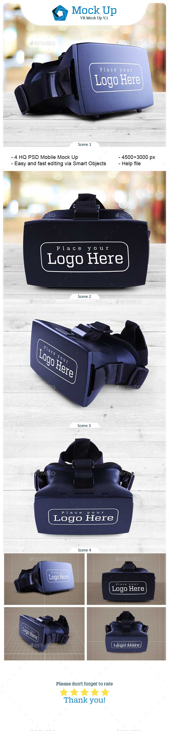 VR Mock Up V.1 - Miscellaneous Product Mock-Ups