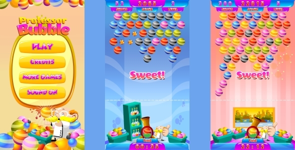 Professor Bubble  - HTML5 Mobile Game (Capx) - CodeCanyon Item for Sale