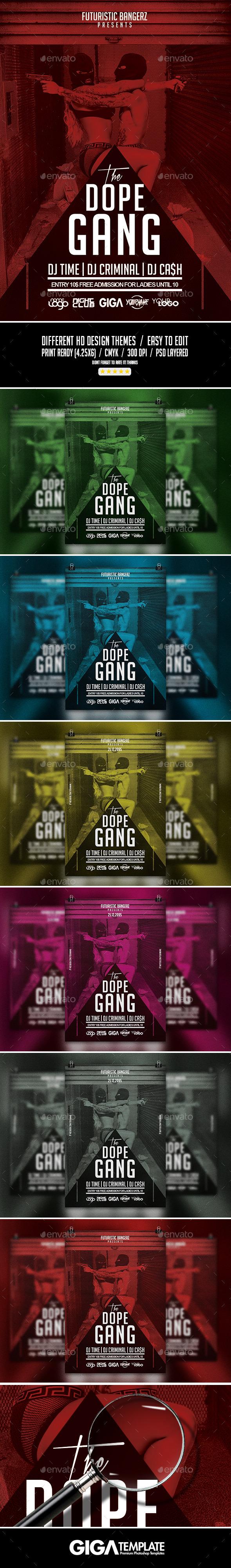 The Dope Gang Hip-Hop Modern Flyer PSD Template