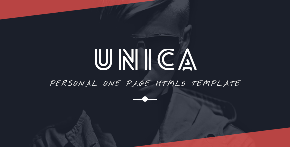 Unica Personal One-page HTML5 Template by Themepatico
