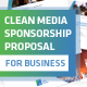 Clean Media Sponsorship Proposal Template - GraphicRiver Item for Sale
