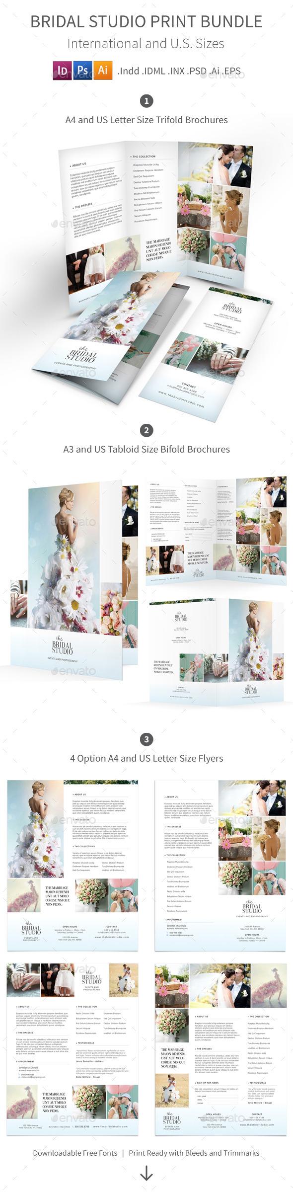 Bridal Studio Print Bundle - Informational Brochures