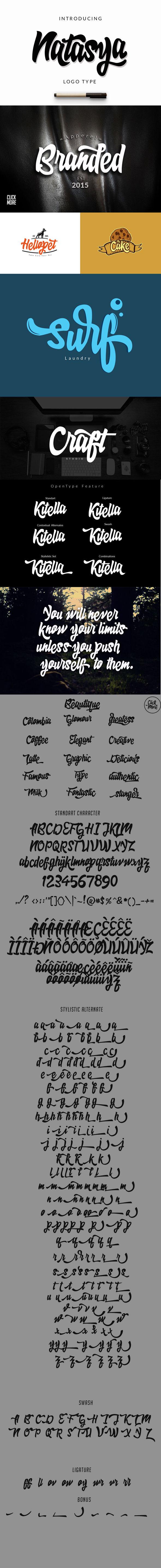 Natasya ( Logo Type ) - Hand-writing Script
