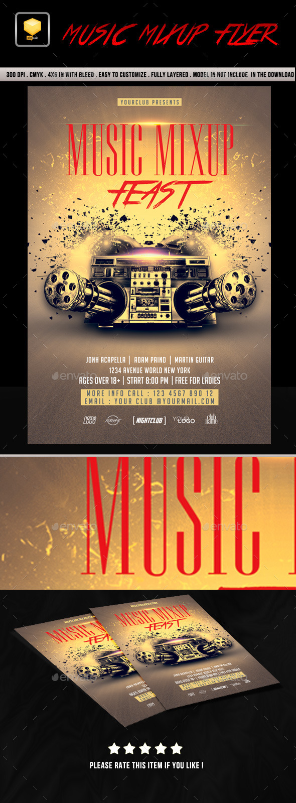 Music Mix-up Flyer - Clubs & Parties Events