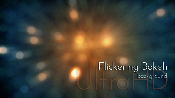Festive Flickering Bokeh Lights