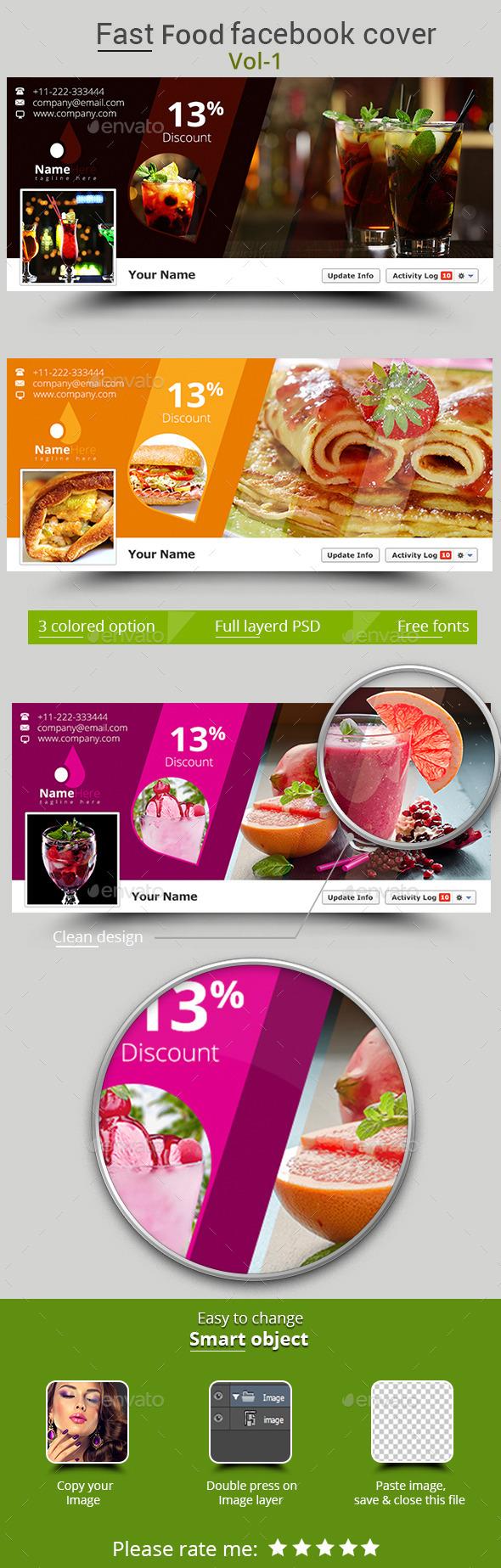 Fast Food Facebook Cover Vol-1 - Facebook Timeline Covers Social Media