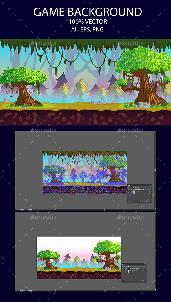 Game Background Forest - Backgrounds Game Assets