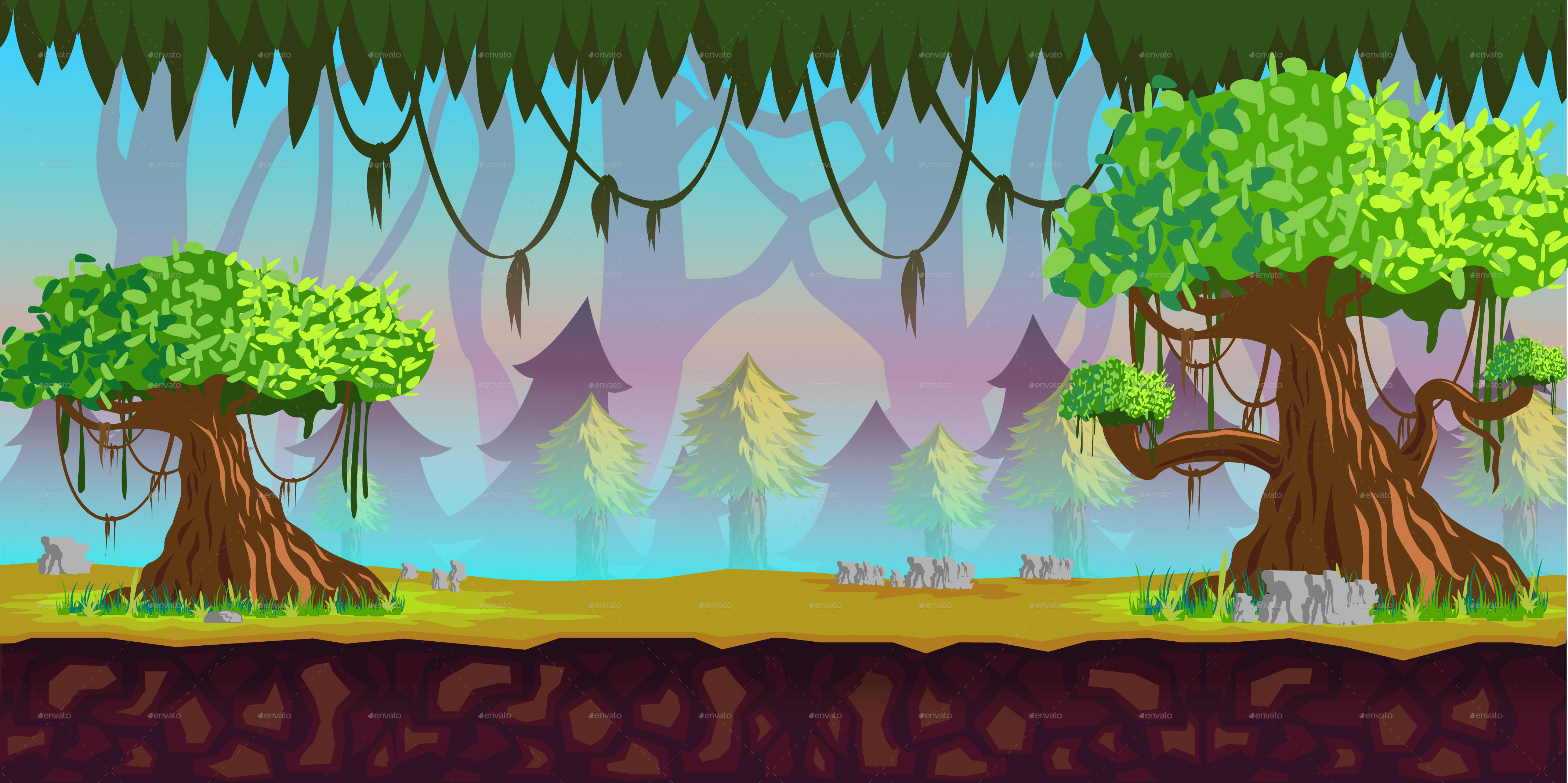 game background forest vitaliyvill graphicriver