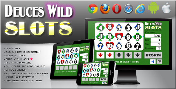 Deuces Wild Slot Machine HTML5 Game