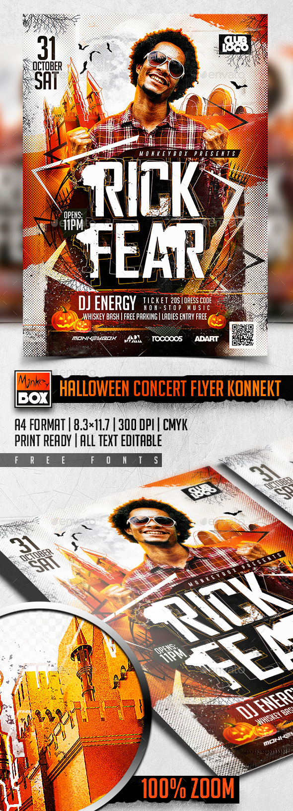 Halloween Concert Flyer Konnekt - Clubs & Parties Events