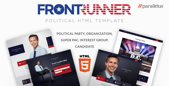 Image of Political HTML Template - FrontRunner