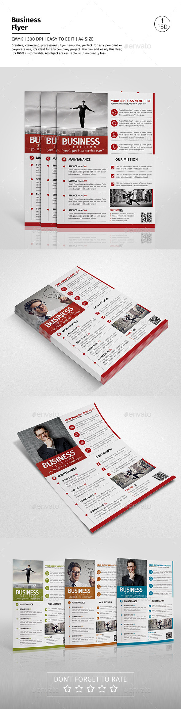 A4 Corporate Business Flyer Template Vol 04 - Corporate Flyers