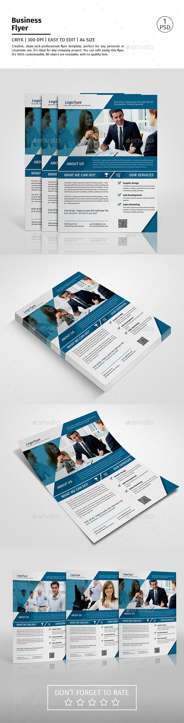 A4 Corporate Business Flyer Template Vol 05