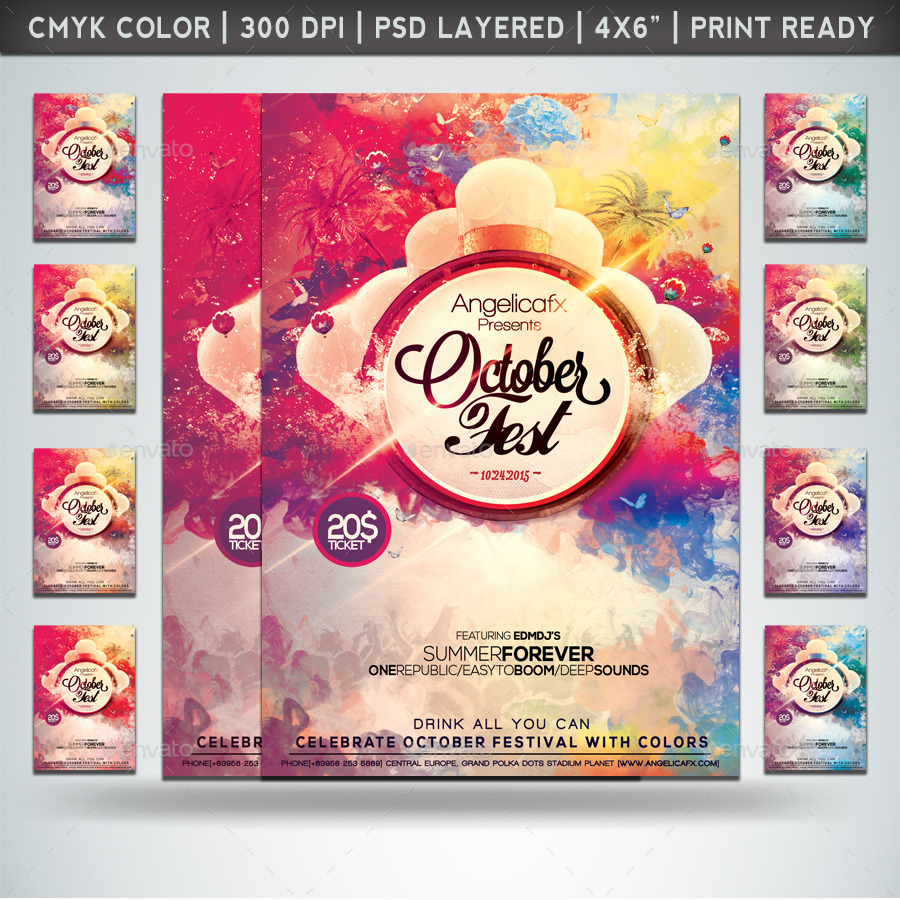 colorful flyers bundle vol 21 by angelicafx graphicriver