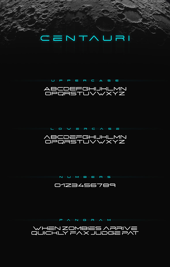 Centauri Futuristic Font