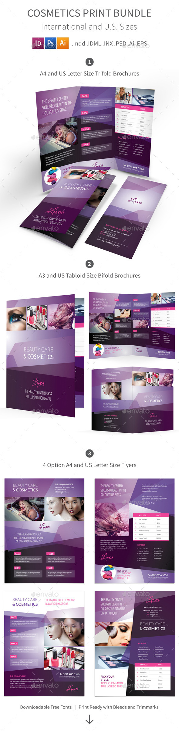 Cosmetics Print Bundle - Corporate Brochures