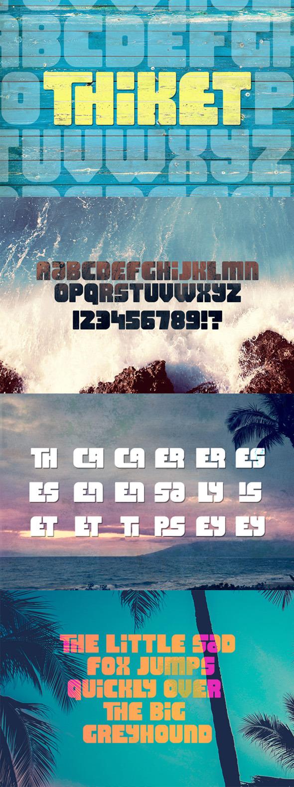 Thiket Typeface - Decorative Fonts