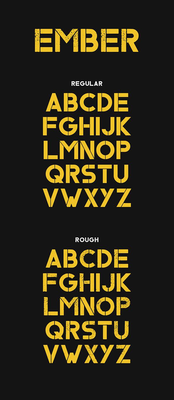 Ember Typeface - Grunge Decorative