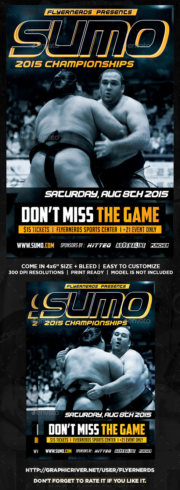 Sumo Championships Sports Flyer - Sports Events